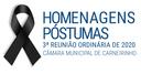 Homenagens póstumas realizadas na 03.ª reunião ordinária de 2020