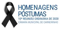 Homenagens póstumas realizadas na 10.ª reunião ordinária de 2020