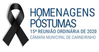 Homenagens póstumas realizadas na 15.ª reunião ordinária de 2020