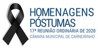 Homenagens póstumas realizadas na 17.ª reunião ordinária de 2020