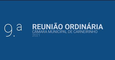 Resumo da 9.ª reunião ordinária de 2021