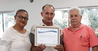 Sr. Valdemir Luiz de Souza recebe moção da Câmara Municipal